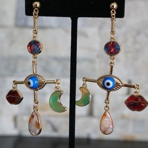 Middle eastern inspired gold earrings